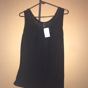 Studded Sweetheart tank top NWT large